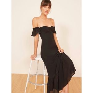 Reformation Butterfly Off Shoulder Ruffle Dress